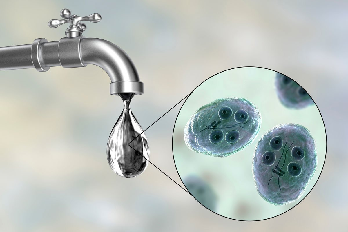 how giardia in tap water